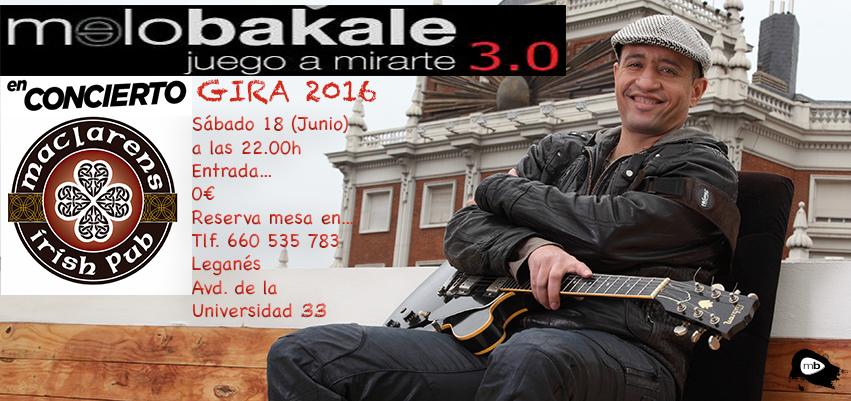 Cartel concierto Maclarens leganés 2016